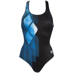 arena Mirrors Swim Pro Back Traje Baño Una Pieza Mujer, negro/azul